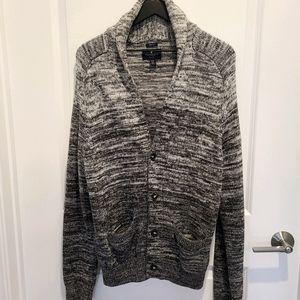 AEO Long Button Marled Cardigan Grandpa Sweater M